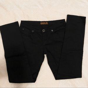 Sky Straight Leg Black Jeans